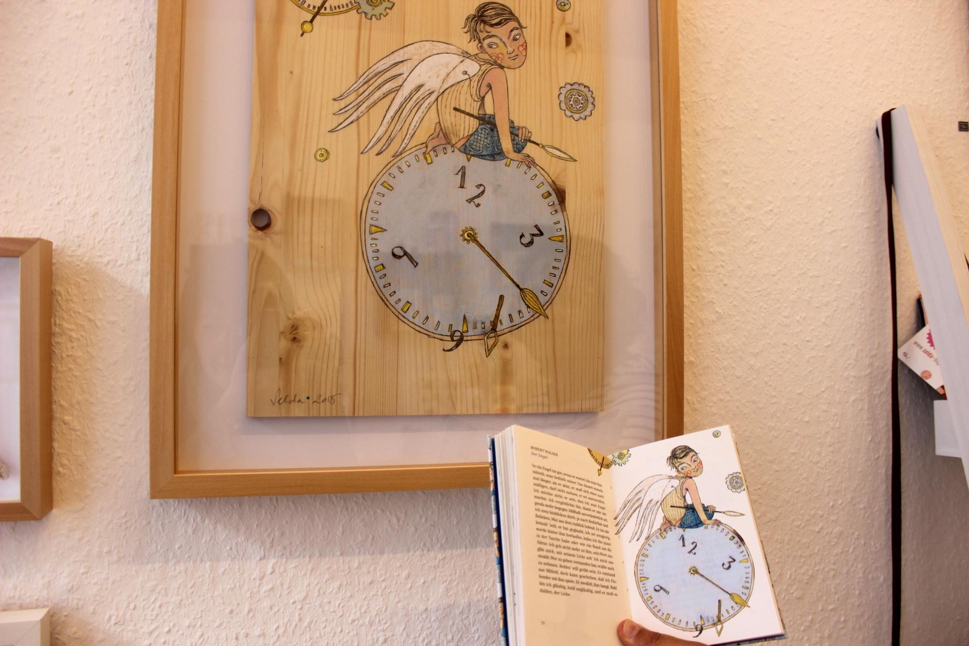 Selda Soganci Holzbild Buch