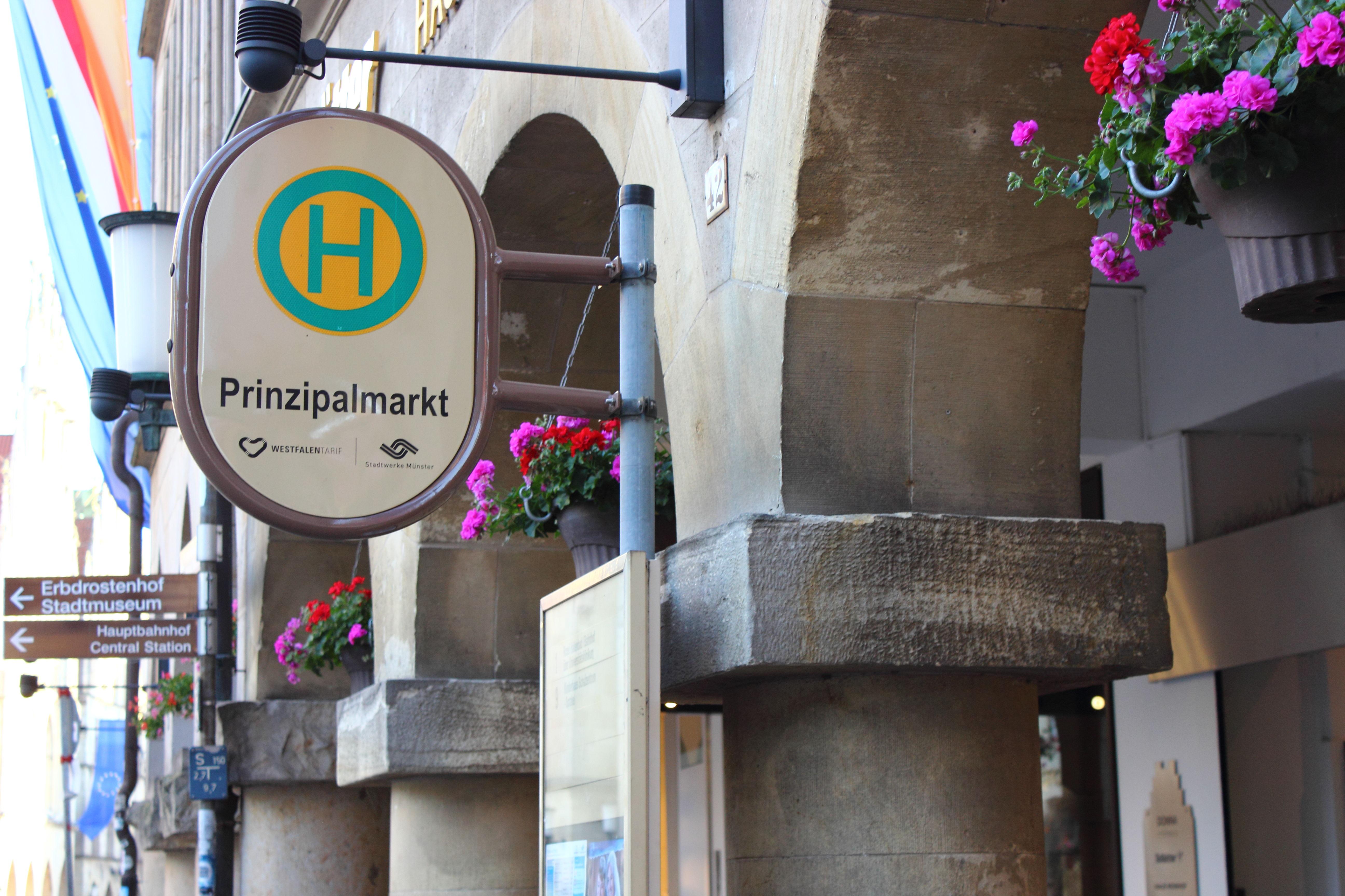 Prinzipalmarkt Schild
