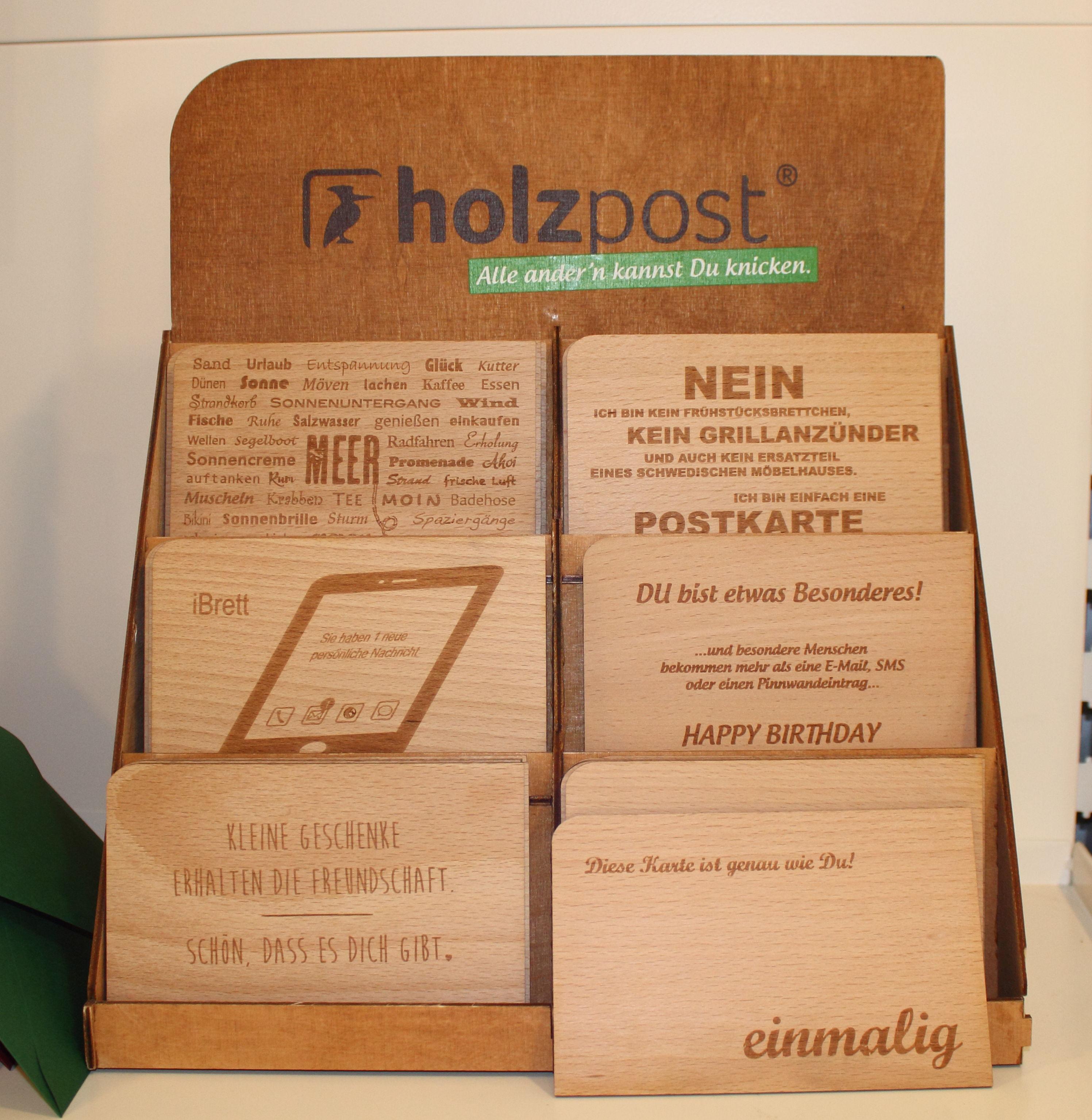 Einzelhandel zum Wohlfüllen Unverpackt Holzpost